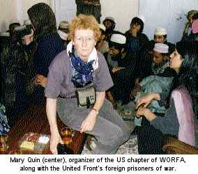 Mary Quin, organizer of the US chapter of WORFA